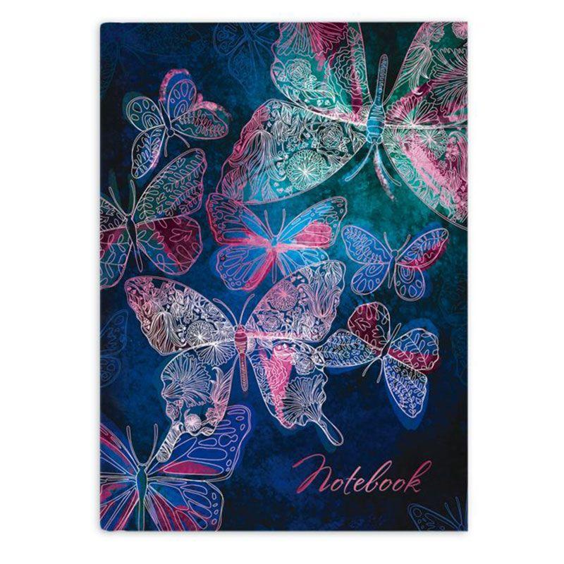 Зап. книжка А6+ 80л Нежные бабочки