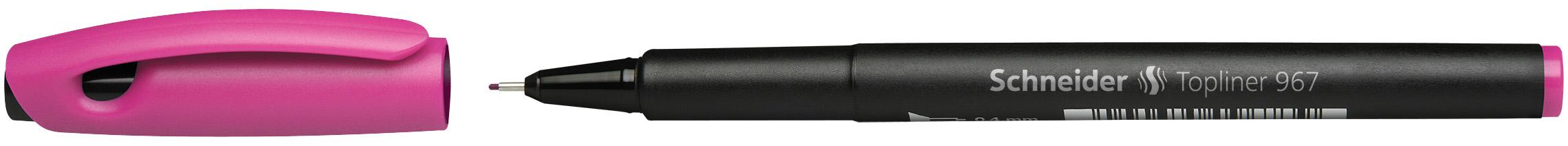 Ручка капиллярная Schneider Topliner 967розовая корпус черный 0.4мм