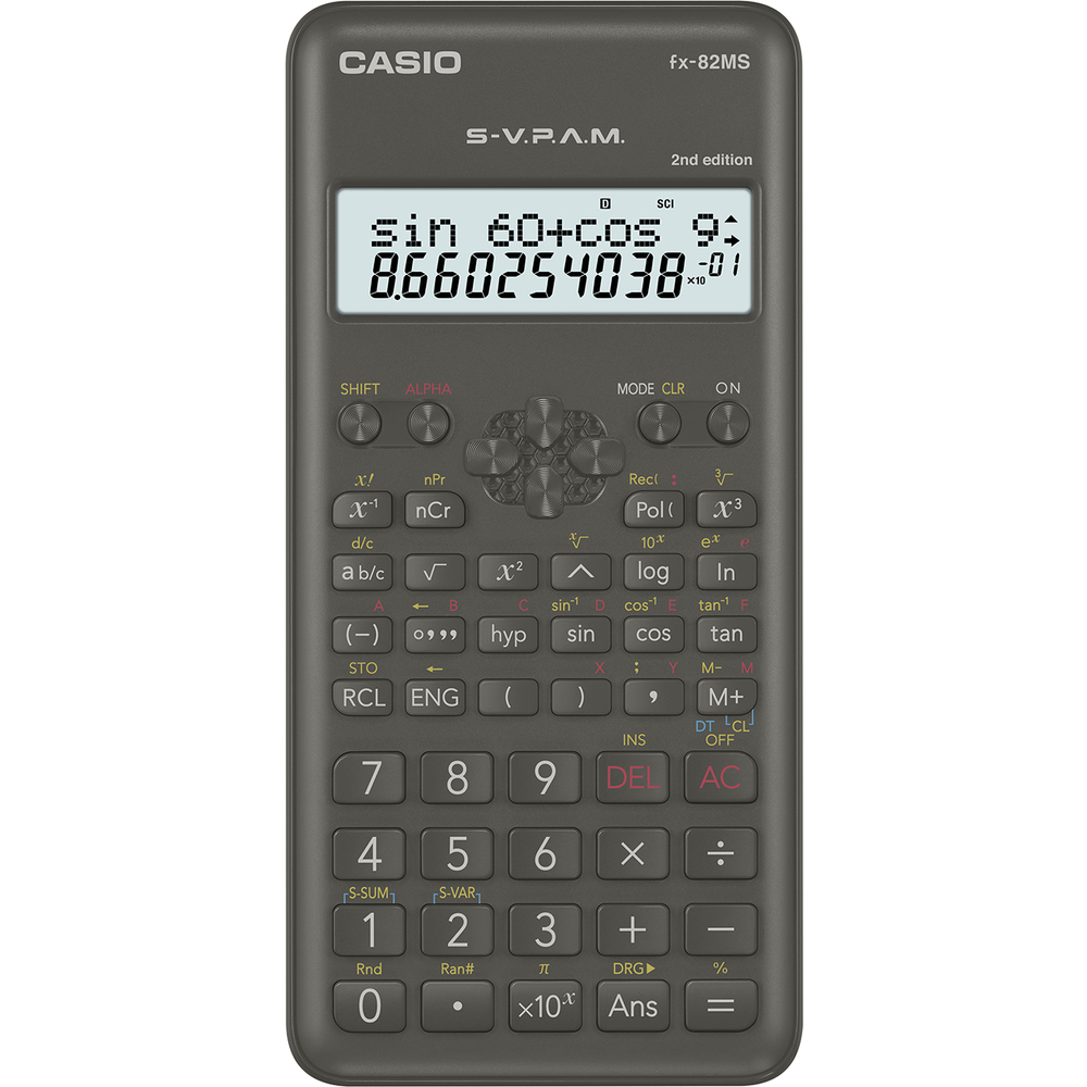Калькулятор научный 10 разр. Casio черный
