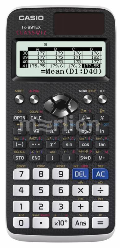 Калькулятор научный 10+2 разр. Casio Classwiz черный
