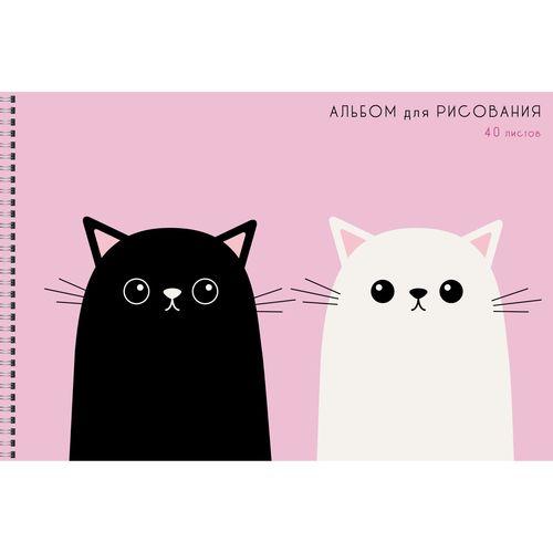 Альбом д/рис 40л спир Два кота