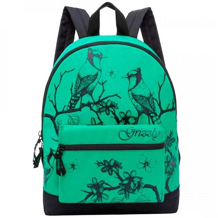 Рюкзак молодежный Grizzly зеленый