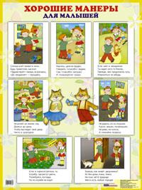 Плакат Хорошие манеры для малышей: Наглядное пособие
