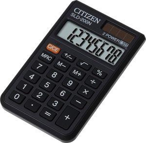 Калькулятор 8 разр. CITIZEN черный 62*98*10мм