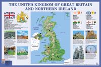 Плакат Великобритания.The United Kingdom of Great Britain and Northern Irel