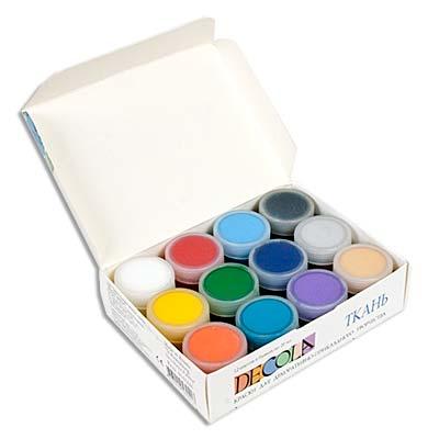 Набор Акриловые краски 12цв по ткани 20мл