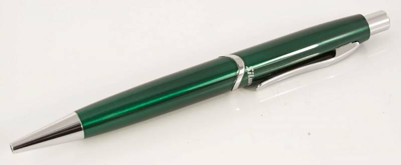 Ручка подар шар Silwerhof синяя Welle зеленый корпус авт. к/к