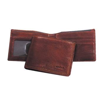 Бумажник Protege кожа коричневый 2отд