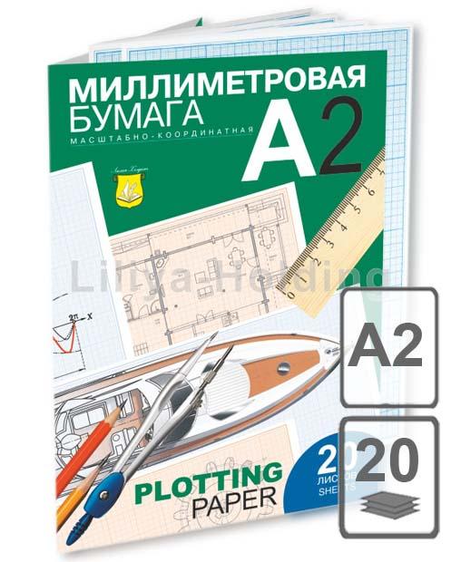 Бумага миллиметровая 1 лист А2 ПОШТУЧНО