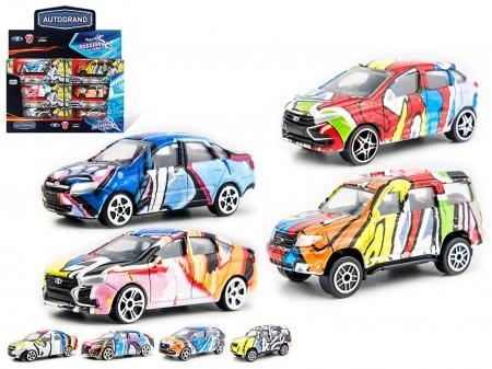 Машина Авто дизайнерские с граффити 1:60 7см
