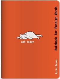 Тетрадь для записи иностранных слов (Белая кошка)