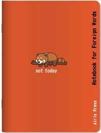Тетрадь для записи иностранных слов (Красная панда)