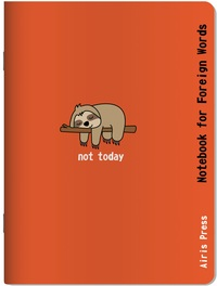 Тетрадь для записи иностранных слов (Сонный ленивец)