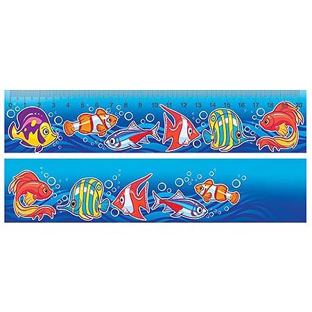 Закладка-линейка 20см Рыбки