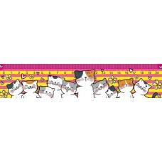 Закладка-линейка 20см Коты +табл/умножения
