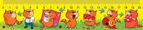 Закладка-линейка 20см Коты на отдыхе