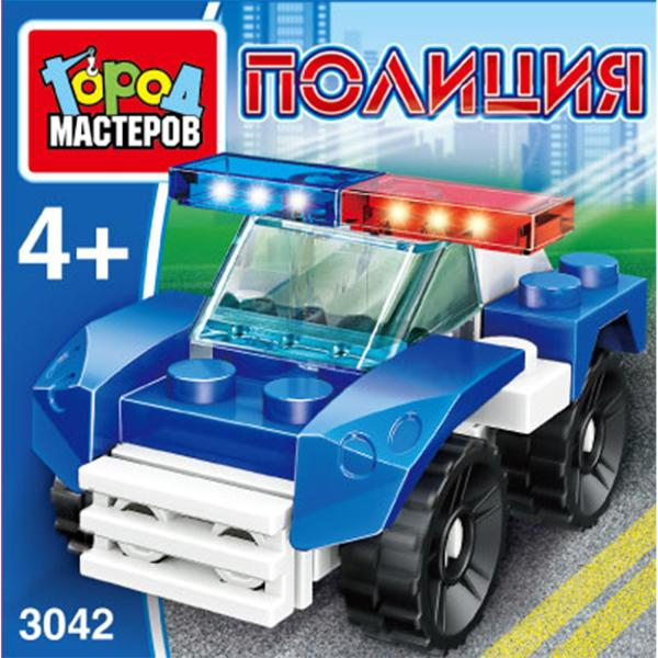 Конструктор Полицейская машина 17дет.