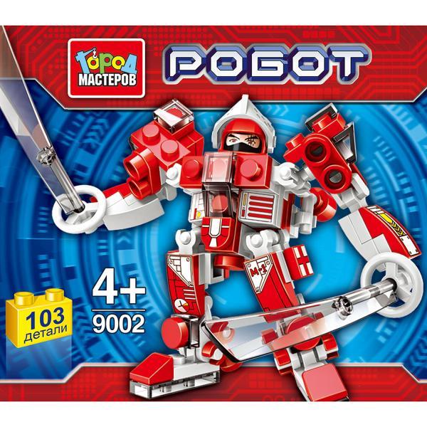 Конструктор Робот 103дет. ассорт. в банке