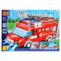 Конструктор Пожарная машина (свет, звук, мотор) 60дет.