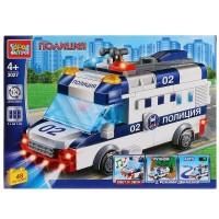 Конструктор Полицейская машина (свет, звук, мотор) 48дет.
