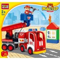 Конструктор Большие кубики: Пожарная машина 30 дет.