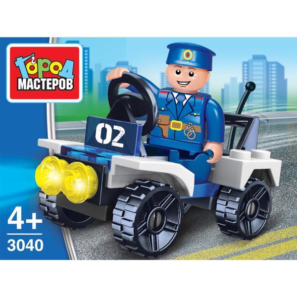 Конструктор Полицейская машина с фигуркой 27дет.