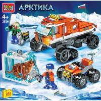 Конструктор Арктика с фигурками 262дет.