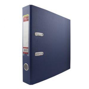 Папка-регистратор 50мм синий ПВХ/бумага мет/окант