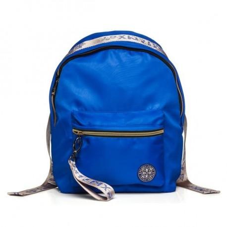 Рюкзак молодежный Hatber FASHION Синий с золотом