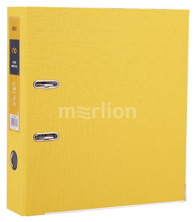 Папка-регистратор 75мм желтый мет/окант