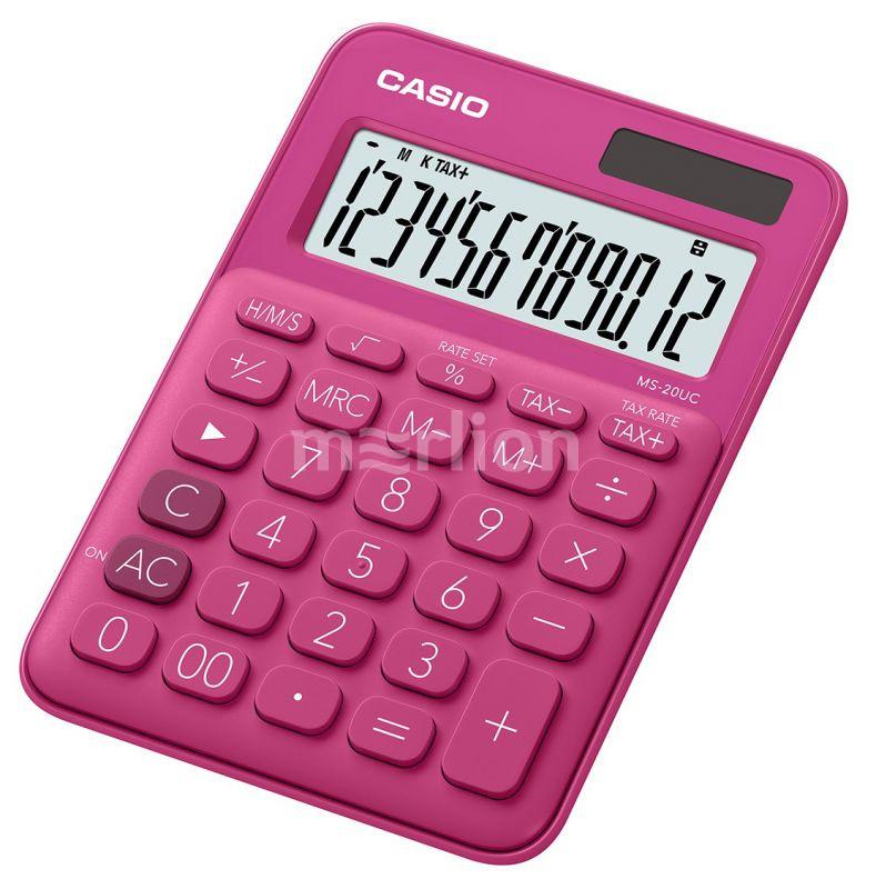 Калькулятор 12 разр. Casio настольный красный