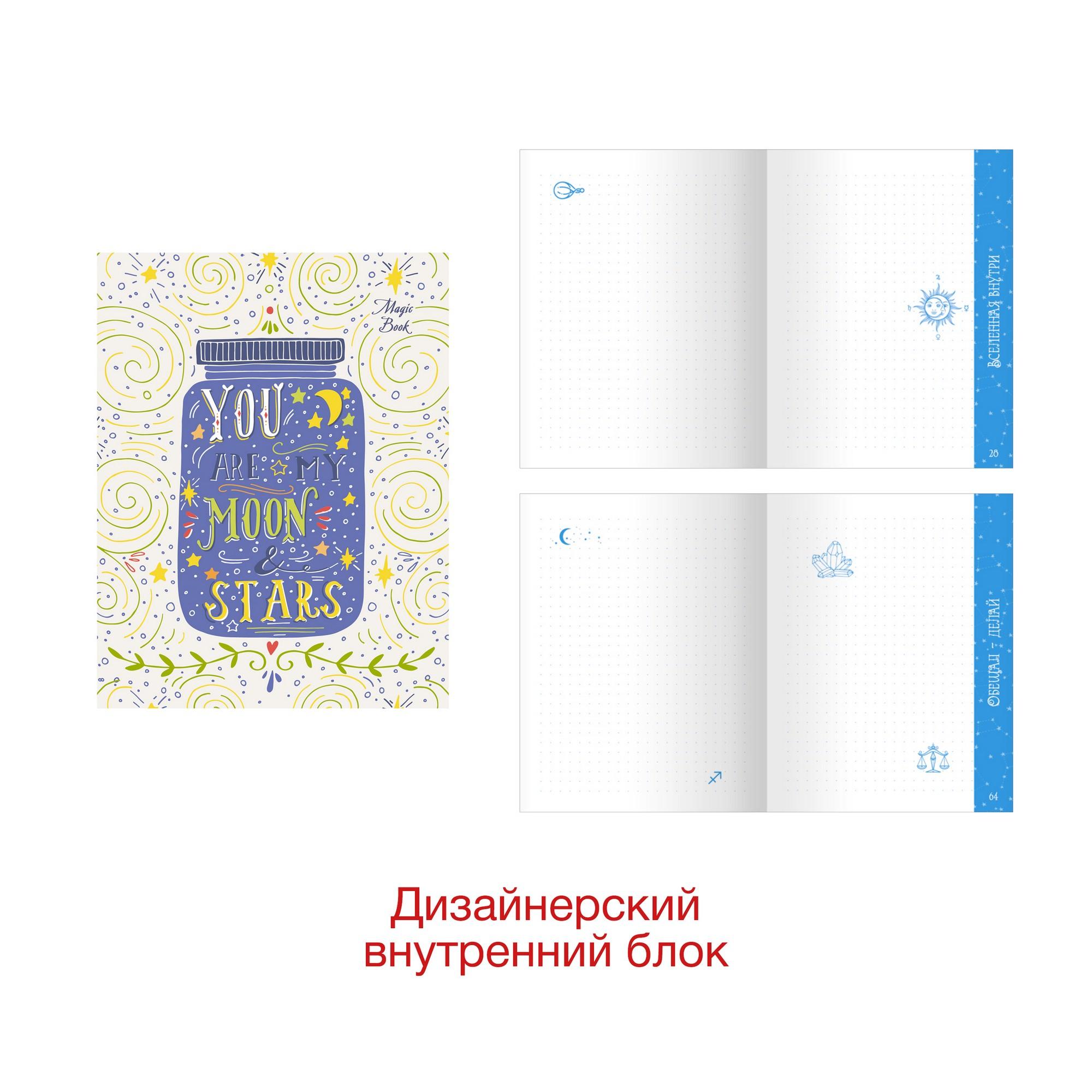 Зап. книжка А6+ 96л MagicBook. Дизайн 1 в точку