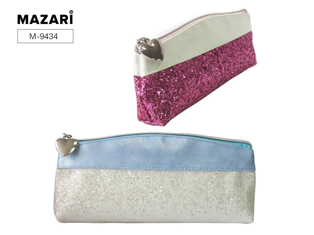 Пенал-косметичка Mazari Mirage S ассорти розовый/голубой блестки