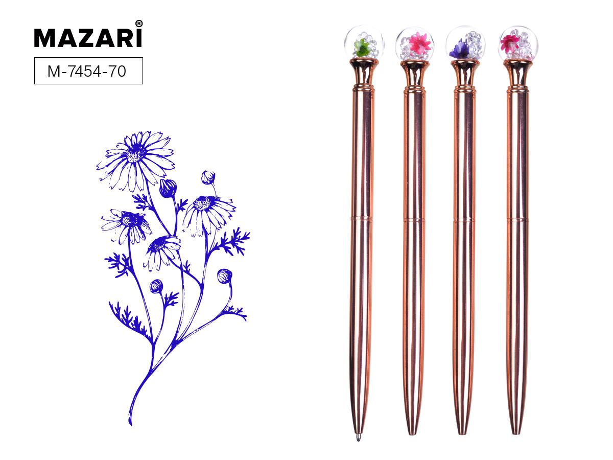 Ручка подар. Floral синяя шариковая поворот 0.7мм