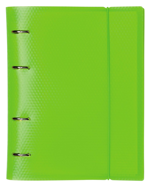 Тетрадь на кольцах 120л DIAMOND NEON Зеленая