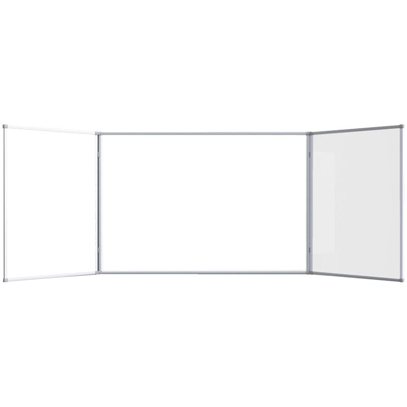 Доска магнитно-маркерная 1000*1500 (3000*1000) белая трехсекционная ал