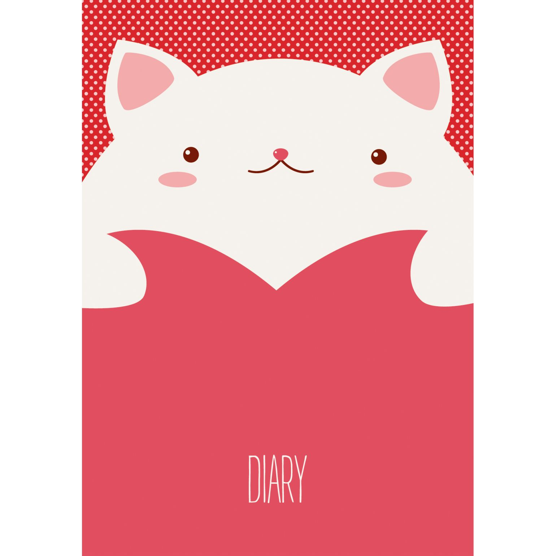 Ежедневник А6 Влюбленный кот