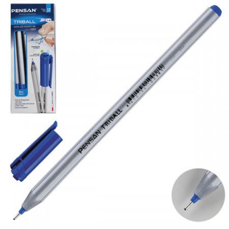 Ручка шариковая Pensan Triball синяя трехгран маслян 1мм