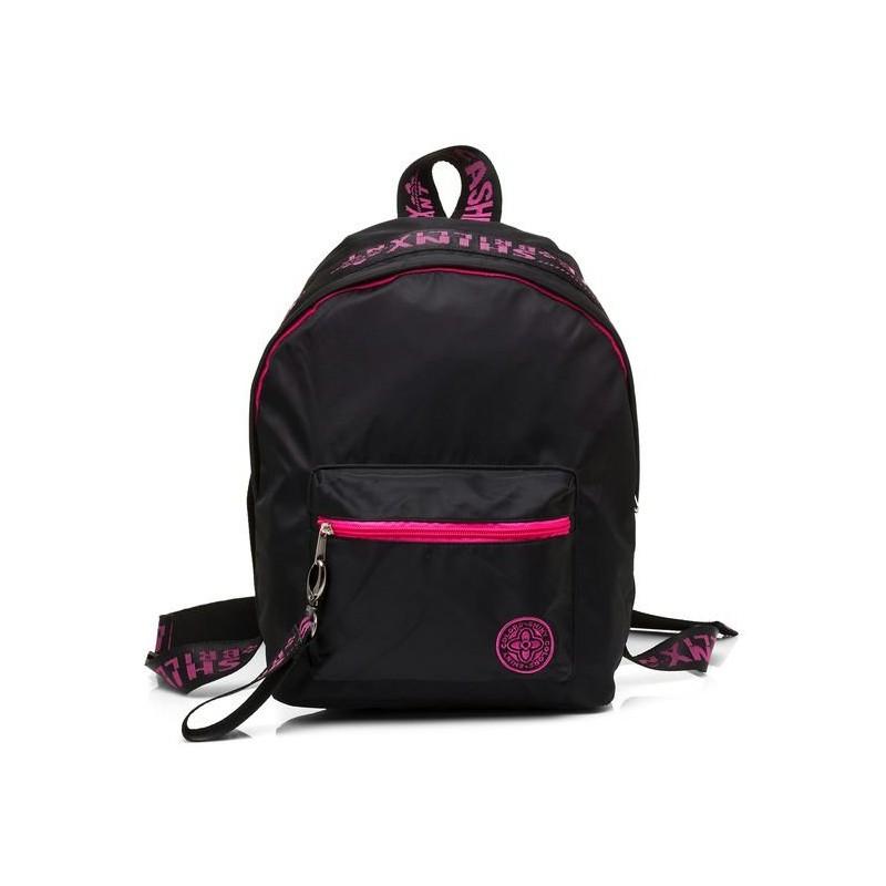Рюкзак молодежный Hatber FASHION Черный с розовым