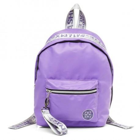 Рюкзак молодежный Hatber FASHION Фиолетовый с серебром