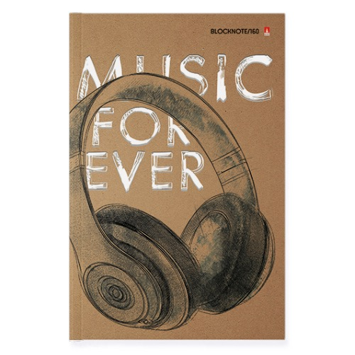 Тетрадь А5 160л кл тв Music Forever