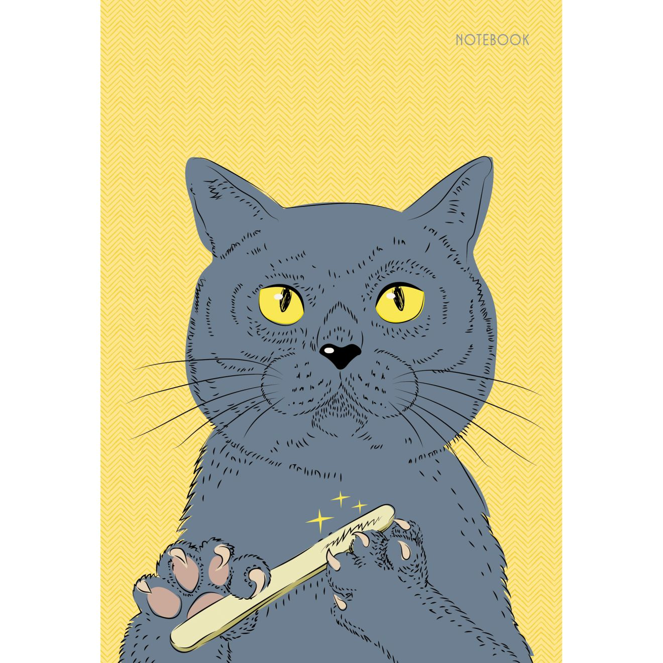 Тетрадь А5 80л кл тв Важный котик