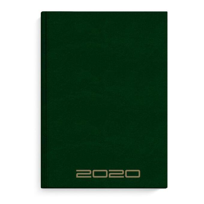 Ежедневник А5 2020г Зеленый бумвинил
