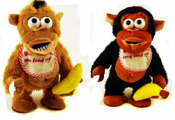 АКЦИЯ19 Анимированная игрушка 30987 Мартышка с бананом (двигается и кричит)