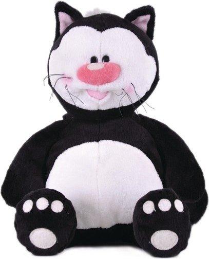 Мягконабивная Кот КОТЯ сидячий черный 23см