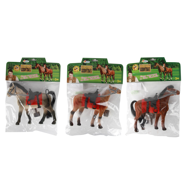 Лошадь 19 см. (флокированное покрытие)