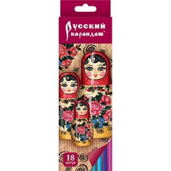 Карандаши цветные 18 цв Русский карандаш. Котенок Фольклор