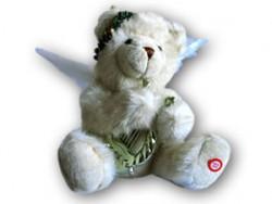 Анимированная игрушка 7605 Медведь с лирой (играет музыка, крылья)