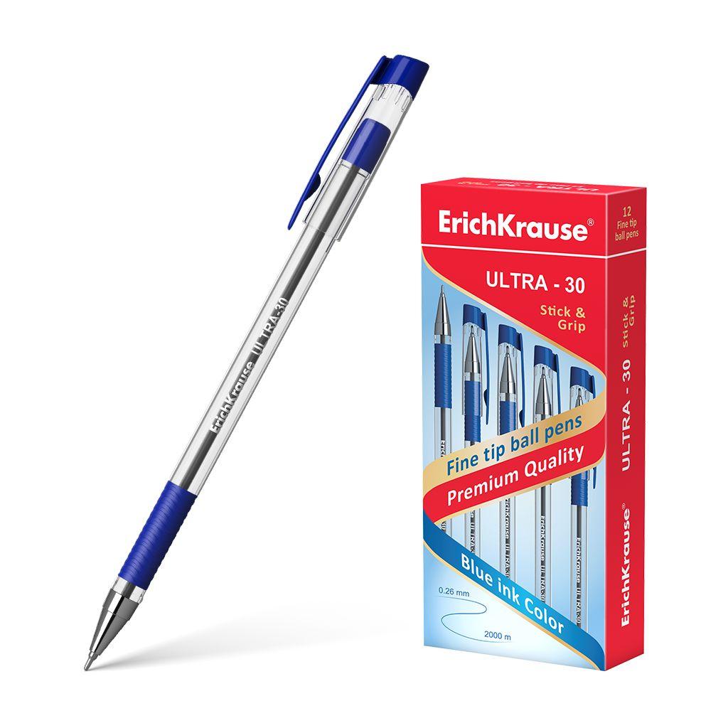 Ручка шариковая EK Ultra L-30 синяя прозрач. корпус 0,6мм