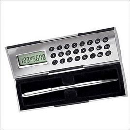 Калькулятор + ручка в футляре